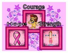 Custom Made T Shirt Breast Cancer Awareness Hope Courae Strength Pink Ribbon
