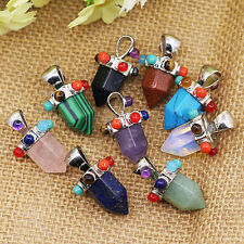 Colorful Hexagonal Opal Blue Turquoise Pendant for Necklace Jewelry Eager Nobby