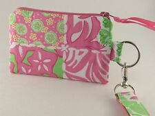 Student Wallet, Credit Card Wallet, ID Card Holder, Lilly Pulitzer Fabric