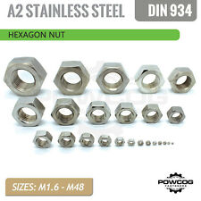 HEXAGON NUT | A2 Stainless Steel Metric Grade 304 | Threaded Full Nuts DIN 934