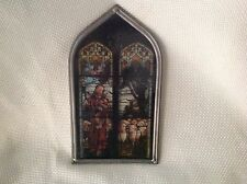 Vintage Stained Glass Jesus with Sheep Window Shaped Suncatcher