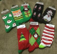 New Womens Holiday Editions Christmas Socks Various Colors Styles Size 9-11