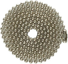 Steel Ball Chains for Military Dog Tags, Bag of 100, Nickel Plated