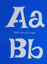 List 2  Letter and Number Stencil Sets (XLarge)  **Free gift with every order**