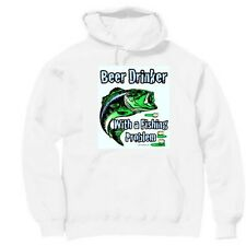 Pullover Hooded Sports Sweatshirt Beer Drinker With A Fishing Problem Fisherman