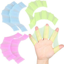 Swim Faster ! Hands Swimming Fins Silicone Webbed Palm Flippers Swim Training