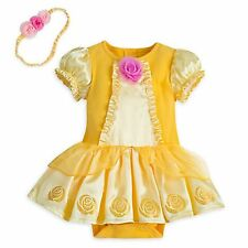 Disney Store Belle Princess Dress Up Baby Costume Beauty & Beast Halloween NEW