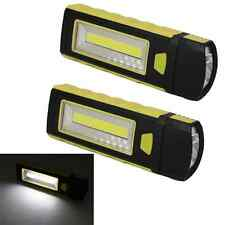 2PC COB LED USB Rechargeable Inspection Light Magnetic Stand Hook Work IB