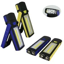 2pcs LED COB Camping Work Inspection Light Lamp Hand Torch Magnetic MC