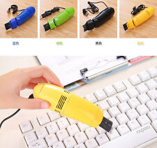 Colorful Computer Vacuum USB Keyboard PC Cleaner Laptop Brush Dust Cleaning