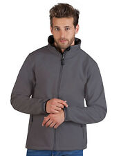 Promodoro Men'S Softshell Jacket Hip length S to 4XL 5XL Stand up collar