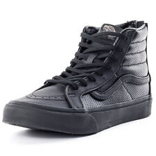 Vans Sk8 Hi Slim Croc Mens Trainers Black Black New Shoes