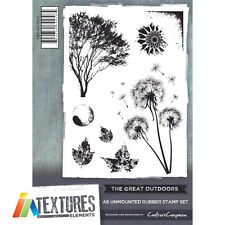 CRAFTERS COMPANION TEXTURES ELEMENTS RUBBER STAMP SET A6 ~ The Great Outdoors