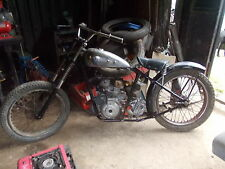 triumph rigid frame barn find pre 65 trials project bobber rolling chassis
