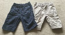 Next Boys Two Pack Lightweight Cotton Shorts, Navy & Beige Age 6 Years