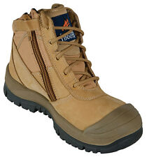 Mongrel Men's 461050 Steel Toe Leather Size Zip Safety Work Boots