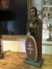 Rare Antique Church Religious Carved Wooden Statue Sculpture St Stephen