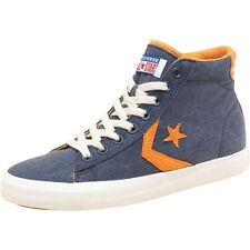 Converse Mens Pro Leather Vulc Mid Navy/Yellow NEW BOXED SUMMER SALE !!! UK 8.5