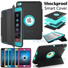 Kids Defender Full Body Protector Shockproof Hard Case Flip Smart Cover For iPad
