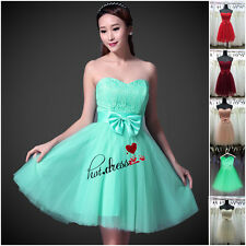 STOCK New Short Lace Formal Bridesmaid Dresses Evening Prom Party Ball Gown 6-18