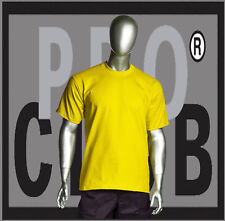 1 New Mens Pro Club Heavyweight Yellow Blank T Shirt M to 3XL PROCLUB