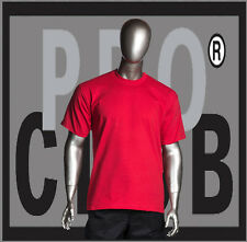 1 New Mens Pro Club Heavyweight Red Blank T Shirt M to 3XL PROCLUB