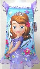 Disney Princess Sofia Nightgown Pajamas Toddler Girls Dress Size 4T NWT