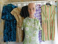 VINTAGE LOT OF 6 awesome WOMENS  1950'S 50'S DRESSES SZ. M&S excellent condition