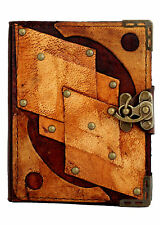 Diamond Decoration Brown Leather Journal / Diary / Notebook / Notepad