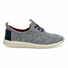 TOMS WOMENS DEL REY BLUE CHAMBRAY NEW SLIP-ON SHOES SIZE 6-9