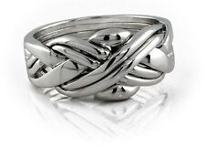 Puzzle Ring - 6 Bands  Sterling Silver