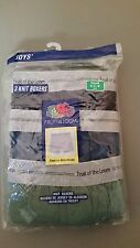 new boys fruit of the loom 3 pack knit boxers.  2 sizes to choose
