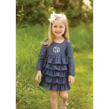 Mud Pie Secret Garden Chambray Ruffle Dress  24M/2T, 3T, 4T
