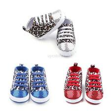 Child Baby Girls Infant Toddler Soft Sole Leopard Shoes Sneakers Cribs Prewalker