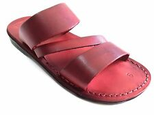 Greek Handmade Leather Jesus Sandals Men Roman Flip Flops Shoes Thongs Biblical