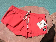 ROXY BOY SHORT SWIMWEAR COVER UP SHORTS - CORAL COTTON
