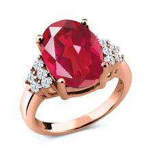 4.30 Ct Oval Last Dance Pink Mystic Quartz 18K Rose Gold Plated Silver Ring