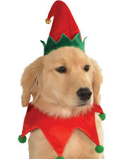 Red Green Festive Jolly Christmas Toy Shop Elf Hat Pet Dog Costume Accessory
