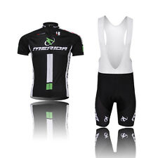 Men Cycling Jersey Bike Team Bicycle Short Sleeve Cycling Jersey Sets+Bib Shorts