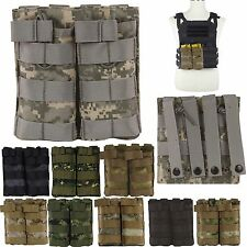 MOLLE Tactical Magazine MAG Ammo Pouch Bag Double Stacker For M4/M16 .223 5.56
