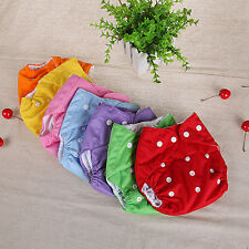 1Pc Reusable Baby Infant Nappy Dotted Cloth Washable Diapers Covers Eager Nobby