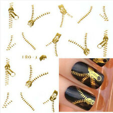 Gold Silver Nail Art Tips Stickers Decal Wraps Acrylic Manicure Decorations Pop
