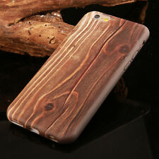 New Visual Wood Patterned Ultrathin Soft Phone Case Cover For iPhone 6 6s Plus