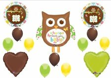 Anagram Whoo Loves You Baby Shower NEUTRAL Balloons Decorations Supplies