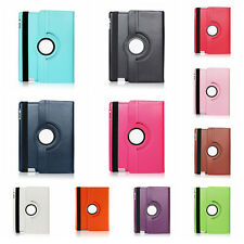 Leather Plain 360 Degrees Rotating Case Cover Stand for Apple iPad 5/Air 0YT