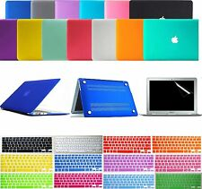"Matte Hard Case Keyboard Cover Screen Protector for MacBook Pro Retina 13"" 15"""