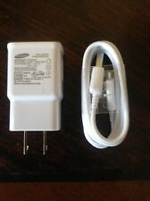 NWOT - Samsung 2 Amp Micro USB Rapid Wall Travel Charger & Data Sync Cable - Whi