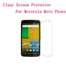 1pc HD LCD Clear Screen Protector For Motorola Moto Phone & Cleaning Cloth Lot