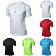 Mens Sport Quick Dry Stretch T-Shirts Top Athletic Tees Fitness Tops