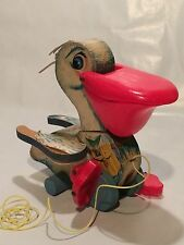 Vintage 1950-60's Fisher-Price Squawking Pelican Pull Toy No.794